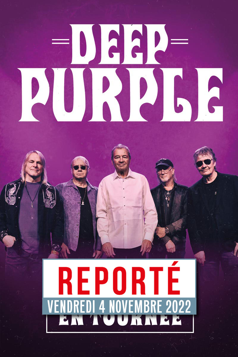 DEEP PURPLE   Clermont-Ferrand   lundi, 18 octobre 2021